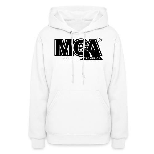 MCA Logo WBG Transparent BLACK TITLEfw fw png - Women's Hoodie