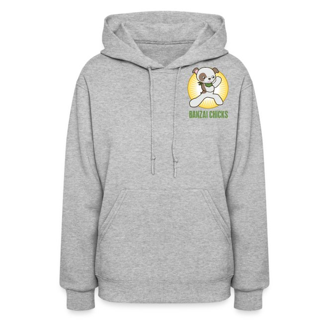 Banzai Chicks Cute Cartoon Army Girl Ladies Hoodie