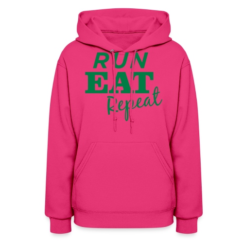 Run Eat Repeat buttons medium - Women's Hoodie