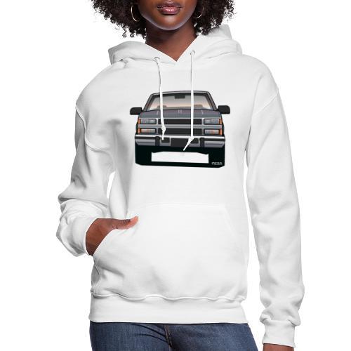 Design Icon: American Bowtie Silver Urban Truck - Women's Hoodie