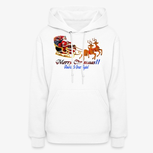 Merry Christmas-America - Women's Hoodie