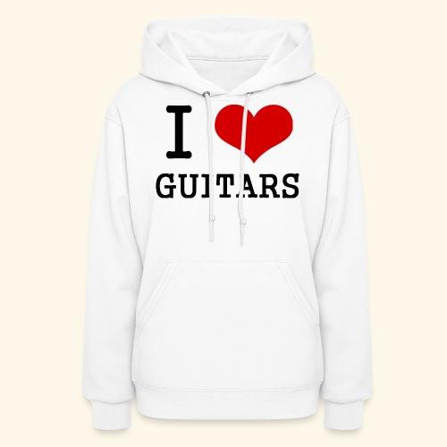 I love guitars - Women's Hoodie
