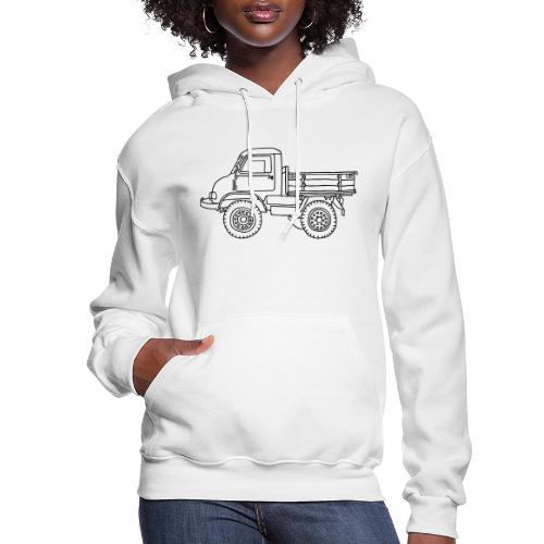 Off-road truck, transporter - Women's Hoodie