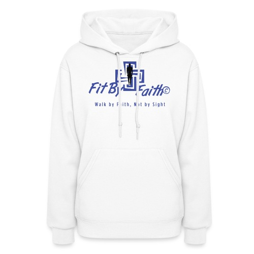 FitbyFaith back png - Women's Hoodie