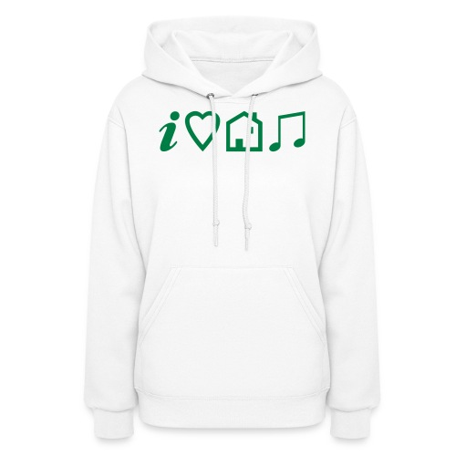 I Heart House Music - Symbolic Design 1 - Women's Hoodie