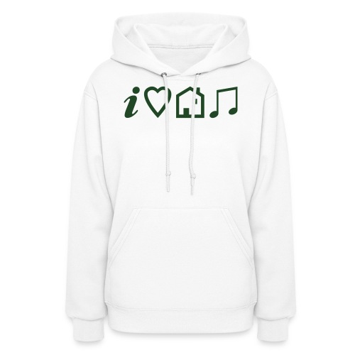 I Heart House Music - Symbolic Design 1 - Women's Hoodie
