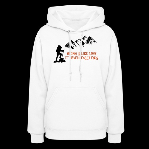 Hiking Is Like Love - Women's Hoodie