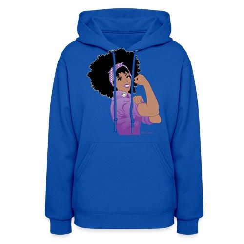 GlobalCouture WeCanDoItPurple Girl RGB png - Women's Hoodie