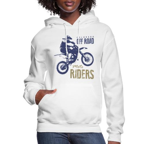 motorcycle off road rider biker - Women's Hoodie