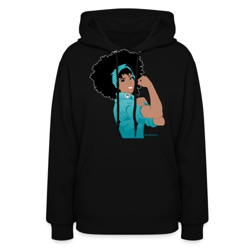 GlobalCouture WeCanDoIt TEAL Girl RGB png - Women's Hoodie
