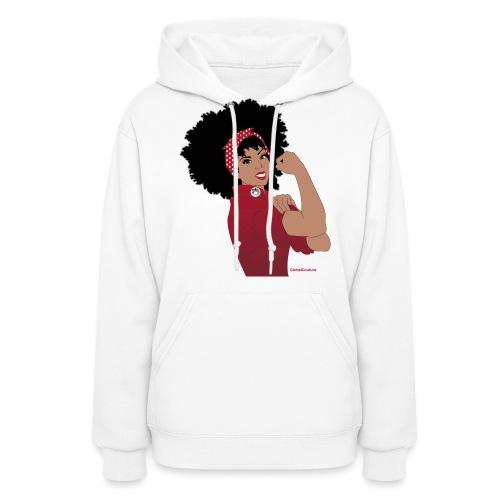 GlobalCouture WeCanDoIt RED Girl RGB png - Women's Hoodie