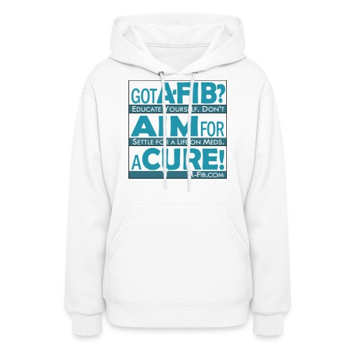 aim for a cure don t settle blue - Women's Hoodie
