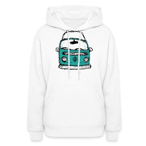Living The Life In A Hippie Bus - Women's Hoodie
