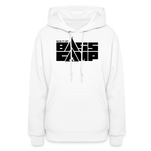 Nice it up! Bass Camp logo - Black - Women's Hoodie