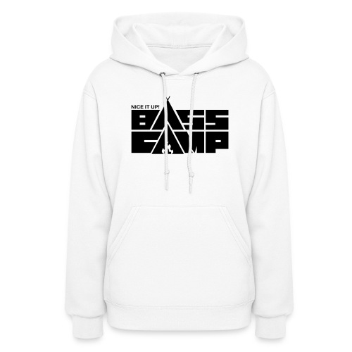 Nice it up! Bass Camp logo - Black - Women's Hoodie