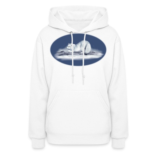 Arctic Fox on snow - Women's Hoodie