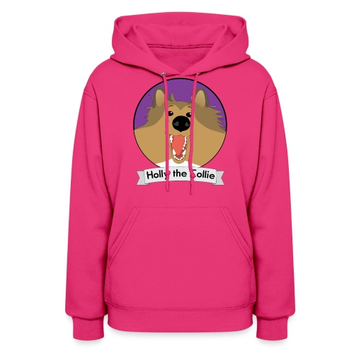 Holly the Collie banner - Women's Hoodie