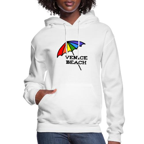 Venice Beach Rainbow Umbrella - Women's Hoodie