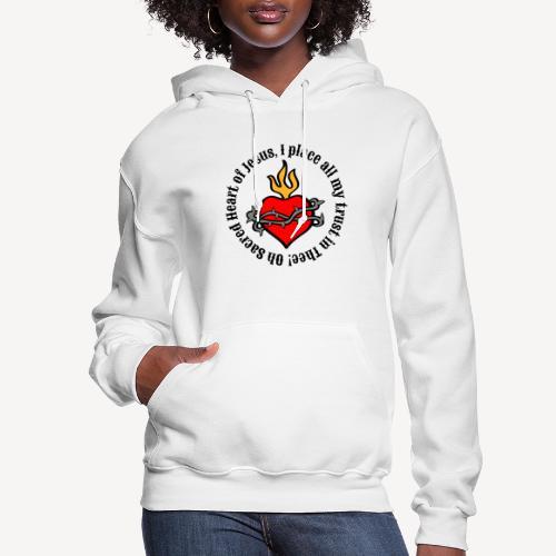 Oh Sacred Heart of Jesus - Women's Hoodie