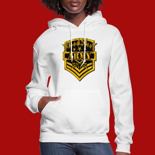 BloodShot ARMYLogo Gold /Black - Women's Hoodie