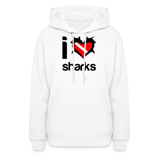 I Love Sharks - Women's Hoodie