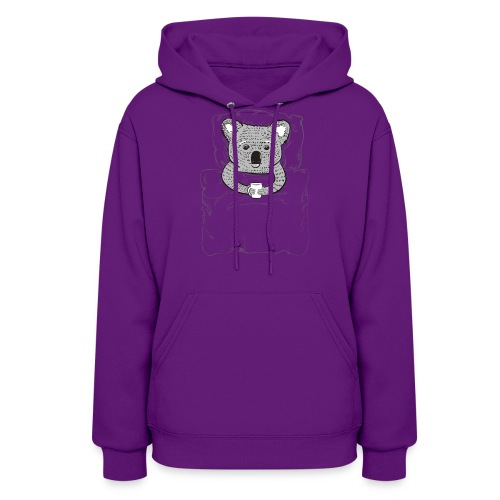 Print With Koala Lying In A Bed - Women's Hoodie