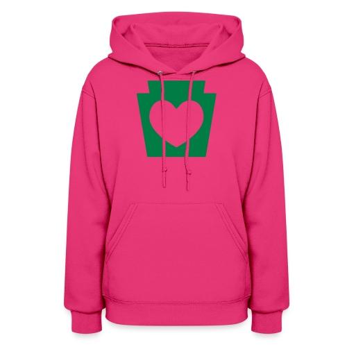 Love/Heart PA Keystone - Women's Hoodie