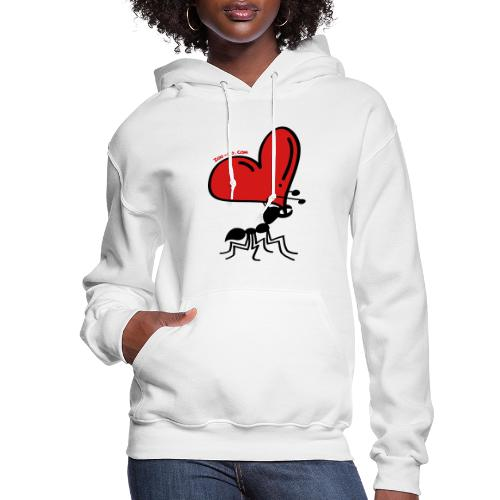 Ant Carrying the Love's Heart - Women's Hoodie