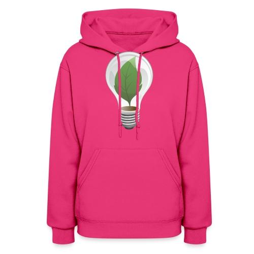 Clean Energy Green Leaf Illustration - Women's Hoodie