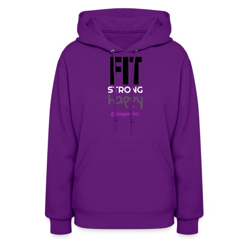 fit strong happy colour - Women's Hoodie