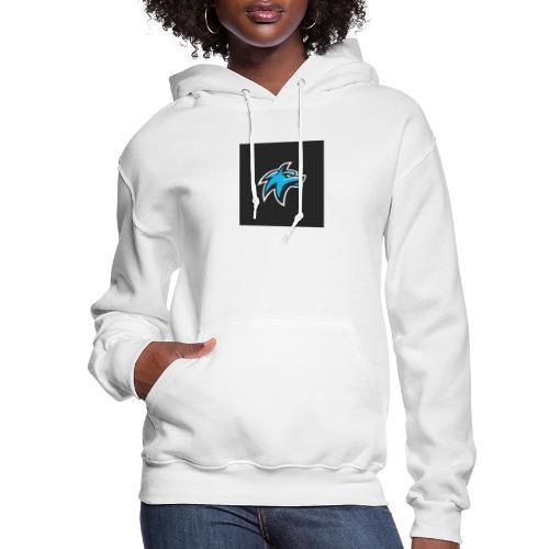 wolf head esport gaming logo vector 44095 55 - Women's Hoodie