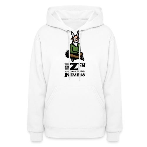 Nimbus character in color and logo vertical - Women's Hoodie