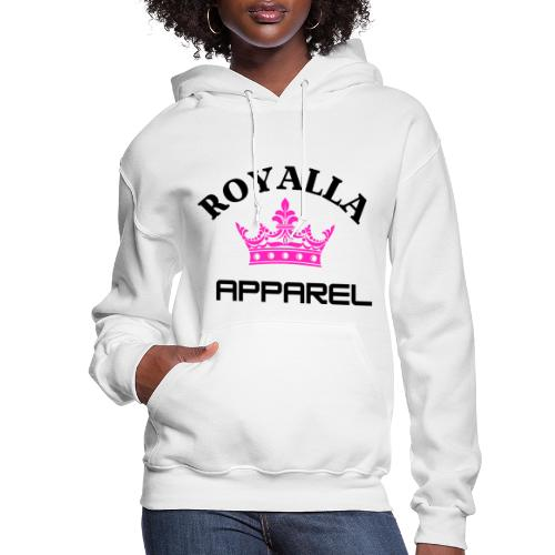 Royalla Apparel Black with Pink Logo - Women's Hoodie