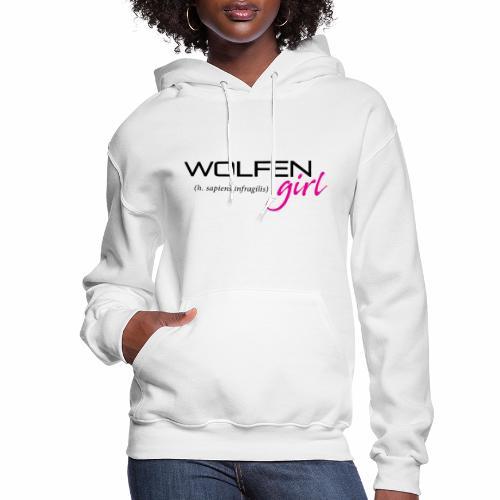 Wolfen Girl on Light - Women's Hoodie