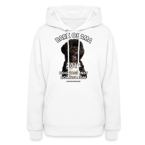 Official Dogs Against Romney Bark Obama 2012 - Women's Hoodie