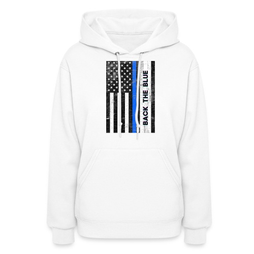 BACK THE Blue Police Officer USA - Women's Hoodie