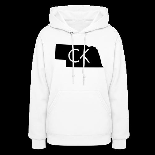State of Nebraska Conor Keating Logo (White) - Women's Hoodie