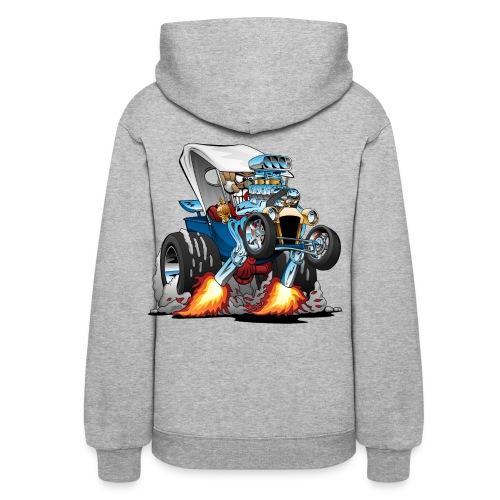 Custom T-bucket Roadster Hotrod Cartoon - Women's Hoodie