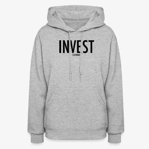 invest clothing black text - Women's Hoodie
