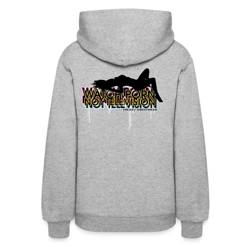 watch porn not television - Women's Hoodie