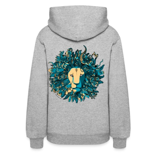 Blue and Yellow Lion - Women's Hoodie