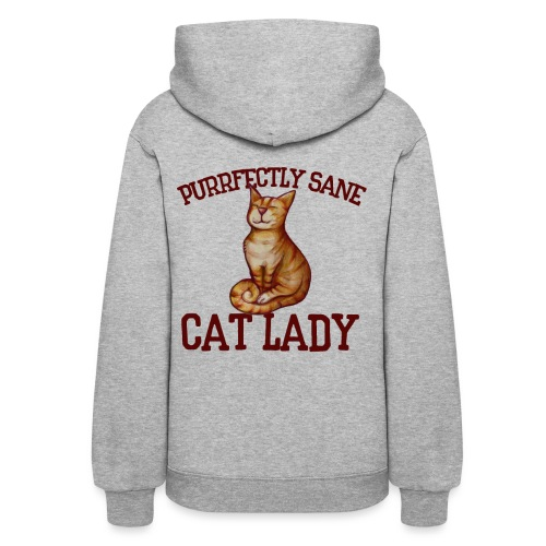 Purrfectly sane cat lady - Women's Hoodie
