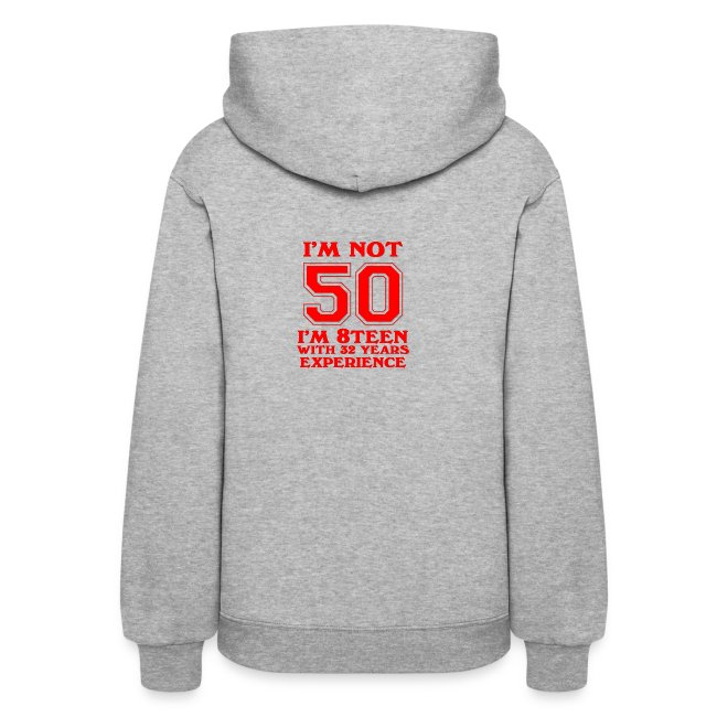 8teen red not 50