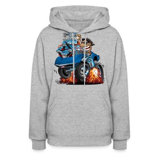 Classic '69 American Sports Car Cartoon - Women's Hoodie
