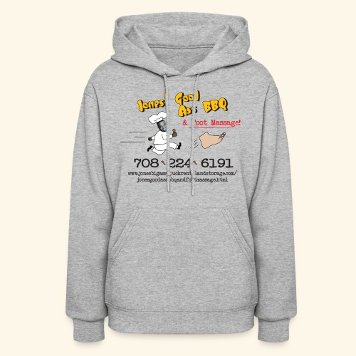Jones Good Ass BBQ and Foot Massage logo - Women's Hoodie