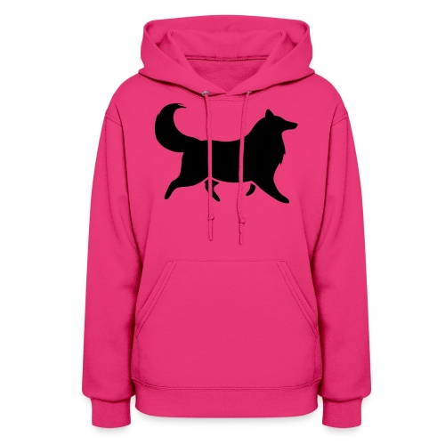 Collie silhouette small - Women's Hoodie