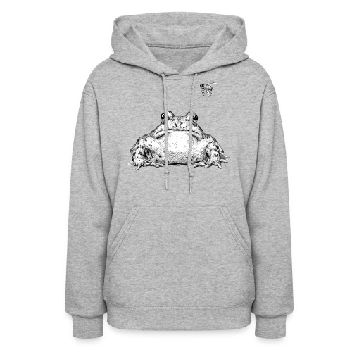 Frog with Fly by Imoya Design - Women's Hoodie