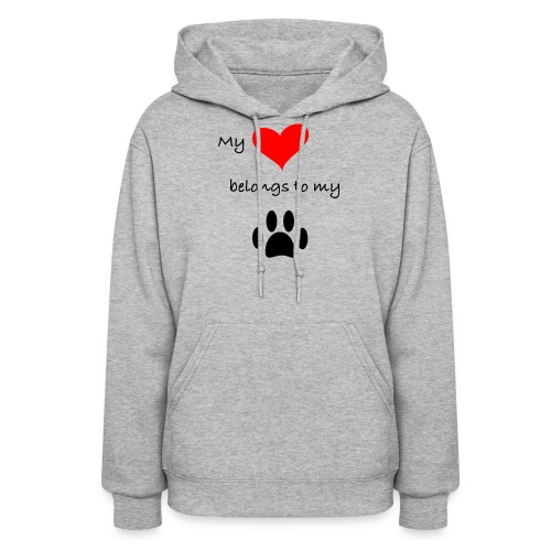Dog Lovers shirt - My Heart Belongs to my Dog - Women's Hoodie