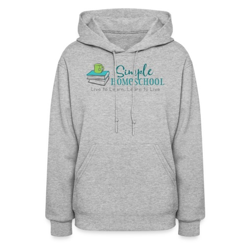 Simple Homeschool Logo with Motto - Women's Hoodie