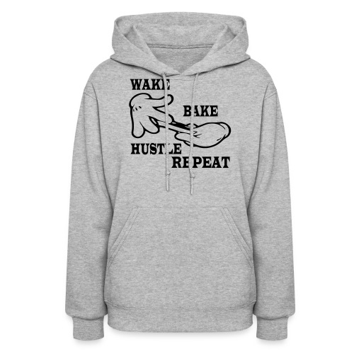 Wake bake hustle repeat - Women's Hoodie